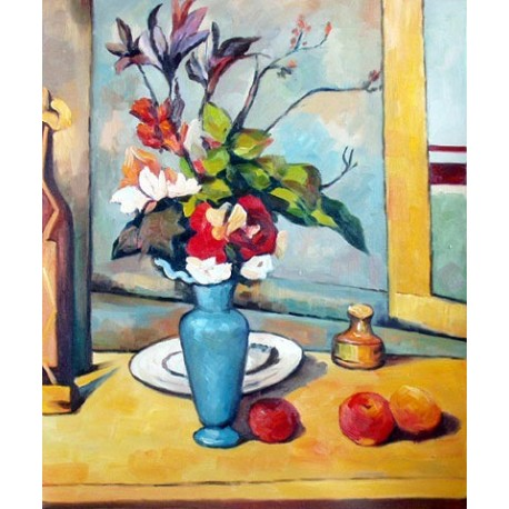The Blue Vase by Paul Cezanne -Art gallery oil painting reproductions