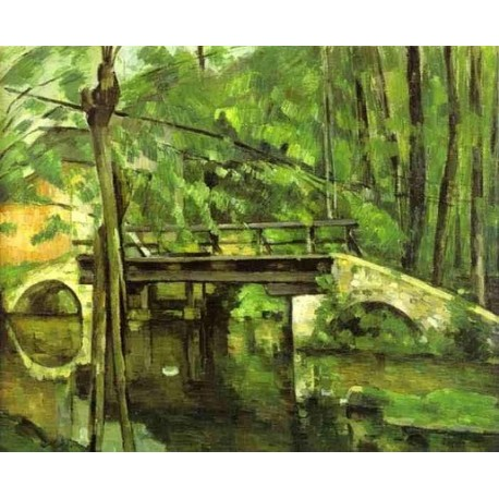 The Bridge of Maincy Near Melun by Paul Cezanne-Art gallery oil painting reproductions