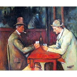 The Card Players, 1890-92 by Paul Cezanne-Art gallery oil painting reproductions