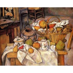 The Kichen Table by Paul Cezanne-Art gallery oil painting reproductions