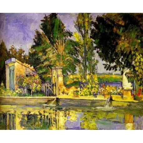 The Pool by Paul Cezanne-Art gallery oil painting reproductions