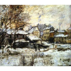 Snow Effect with Setting Sun by Claude Oscar Monet - Art gallery oil painting reproductions
