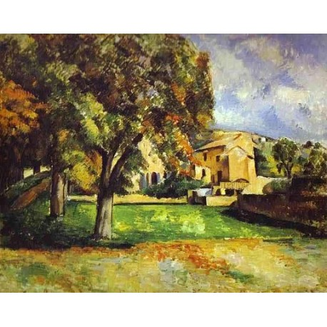 Trees in Park by Paul Cezanne-Art gallery oil painting reproductions