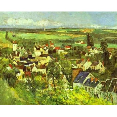 View of Auvers by Paul Cezanne-Art gallery oil painting reproductions