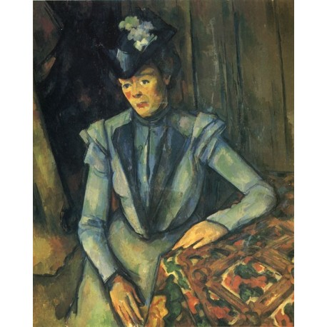 Woman in Blue, 1899 by Paul Cezanne-Art gallery oil painting reproductions
