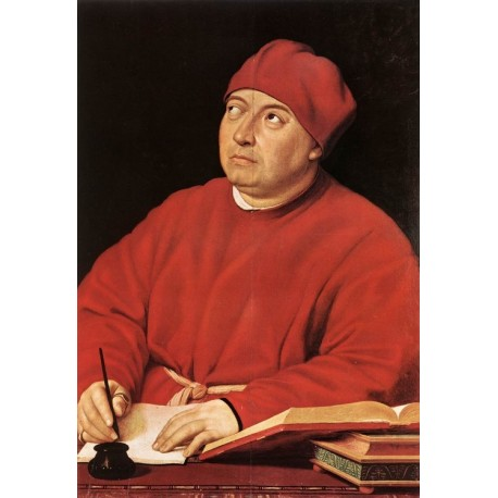 Cardinal Tommaso Inghirami by Raphael Sanzio-Art gallery oil painting reproductions