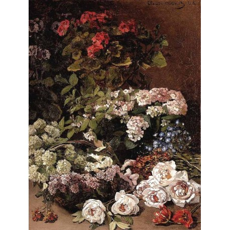 Spring Flowers by Claude Oscar Monet - Art gallery oil painting reproductions
