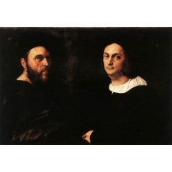 Double Portrait by Raphael Sanzio-Art gallery oil painting reproductions