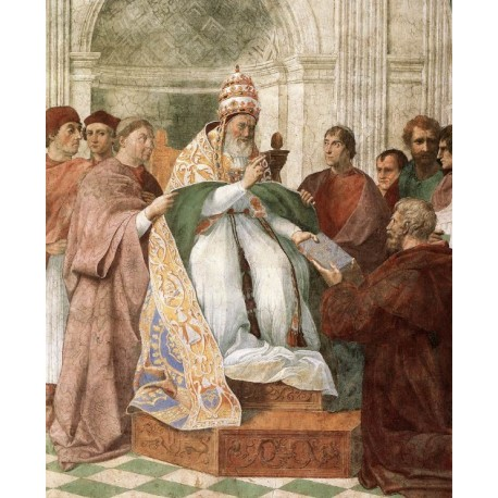 Gregory IX Approving the Decretals by Raphael Sanzio-Art gallery oil painting reproductions