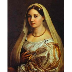 La Donna Velata. 1514-16 by Raphael Sanzio-Art gallery oil painting reproductions