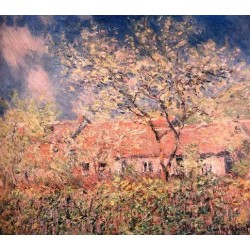 Springtime at Giverny by Claude Oscar Monet - Art gallery oil painting reproductions