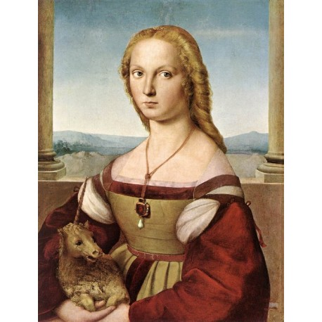 Lady with a Unicorn by Raphael Sanzio-Art gallery oil painting reproductions