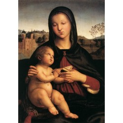 Madonna and Child 1503 by Raphael Sanzio-Art gallery oil painting reproductions