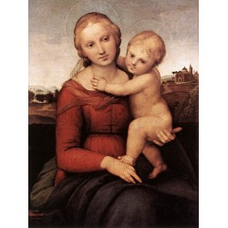 Madonna and Child -The Small Cowper Madonna by Raphael Sanzio-Art gallery oil painting reproductions
