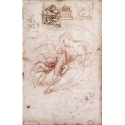 Madonna Studies by Raphael Sanzio-Art gallery oil painting reproductions