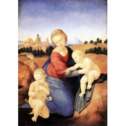 Madonna and Child withThe Infants by Raphael Sanzio-Art gallery oil painting reproductions