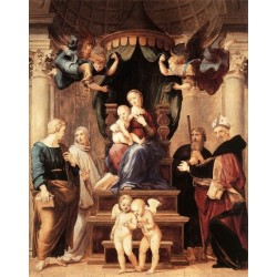 Madonna del Baldacchino by Raphael Sanzio-Art gallery oil painting reproductions