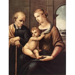 Madonna with Beardless St. Joseph by Raphael Sanzio-Art gallery oil painting reproductions