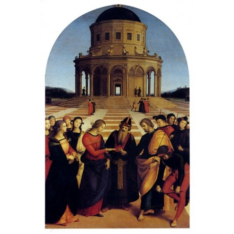 Marriage Of The Virgin by Raphael Sanzio-Art gallery oil painting reproductions