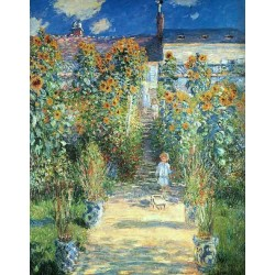 The Artists Garden at Vetheui by Claude Oscar Monet - Art gallery oil painting reproductions