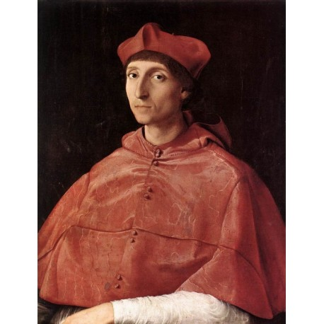 Portrait of a Cardinal by Raphael Sanzio-Art gallery oil painting reproductions