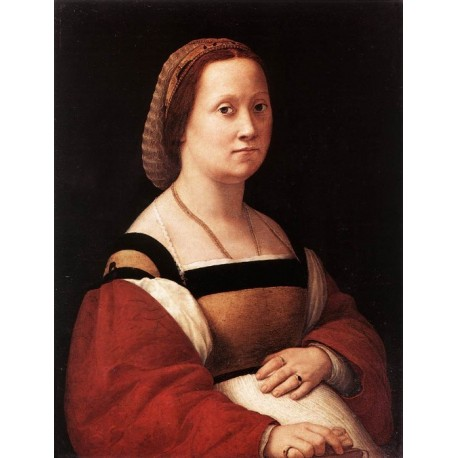 Portrait of a Woman by Raphael Sanzio-Art gallery oil painting reproductions