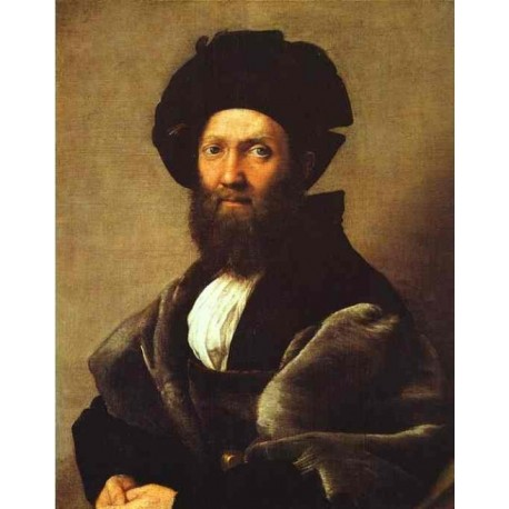 Portrait of Baldassare Castiglione 1514-16 by Raphael Sanzio-Art gallery oil painting reproductions