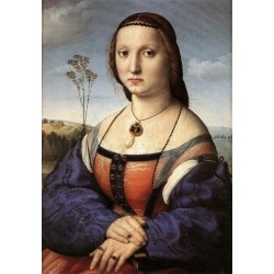 Portrait of Maddalena Doni by Raphael Sanzio-Art gallery oil painting reproductions