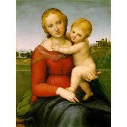 Small Cowper Madonna1505 by Raphael Sanzio-Art gallery oil painting reproductions