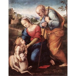 The Holy Family with a Lamb by Raphael Sanzio-Art gallery oil painting reproductions