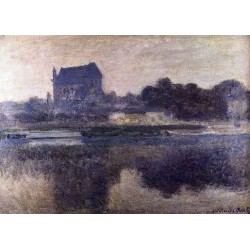 The Church of Vernon In the Mist by Claude Oscar Monet - Art gallery oil painting reproductions