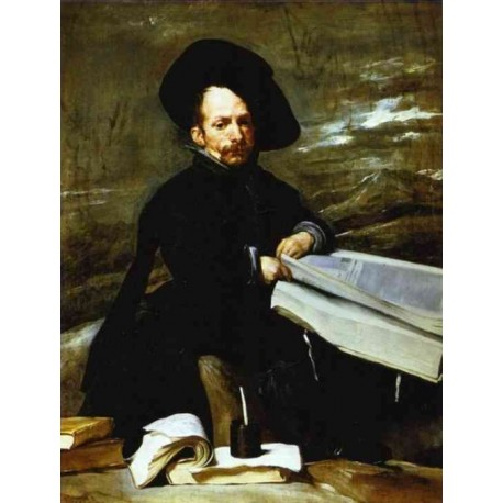 A Dwarf Holding a Tome on His Lap 1645 by Diego Velazquez - Art gallery oil painting reproductions