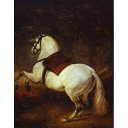 A White Horse 1635 by Diego Velazquez - Art gallery oil painting reproductions