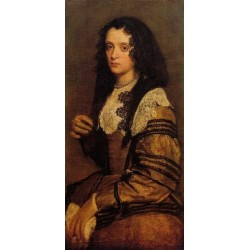 A Young Lady by Diego Velazquez  - Art gallery oil painting reproductions