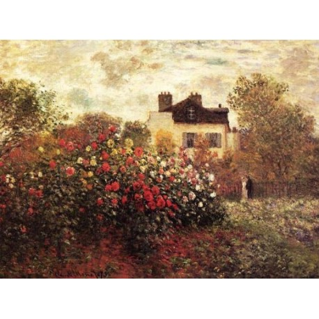 The Garden at Argenteuil by Claude Oscar Monet - Art gallery oil painting reproductions