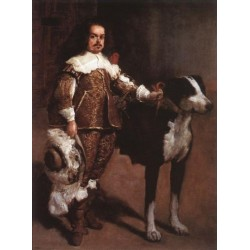 Court Dwarf Don Antonio el Ingles by Diego Velazquez - Art gallery oil painting reproductions