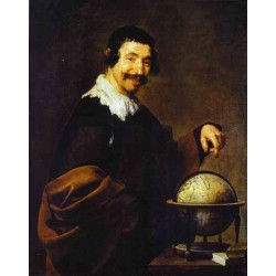 Democritus 1628-29 by Diezgo Velazquez - Art gallery oil painting reproductions