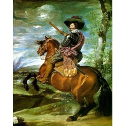 Equestrian Portrait of Count Duke de Olivares 1634 by Diego Velazquez - Art gallery oil painting reproductions