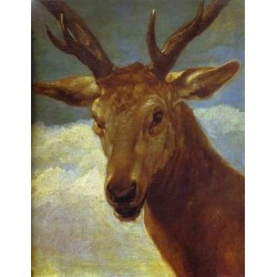 Head of a Stag 1626-27 by Diego Velazquez - Art gallery oil painting reproductions