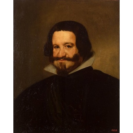 Head of Count-Duke Olivares 1638 by Diego Velazquez - Art gallery oil painting reproductions
