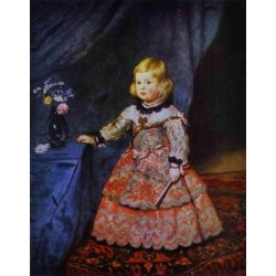 Infanta Margarita 1653 by Diego Velazquez - Art gallery oil painting reproductions