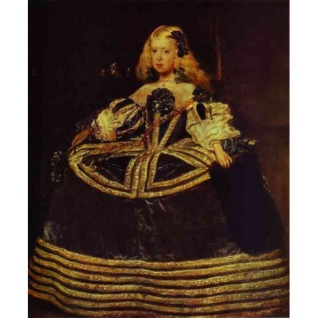 Infanta Margarita in a Blue Dress 1659 by Diego Velazquez - Art gallery oil painting reproductions
