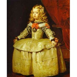 Infanta Margarita 1656 by Diego Velazquez - Art gallery oil painting reproductions