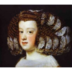Infanta Maria Teresa 1651-52 by Diego Velazquez - Art gallery oil painting reproductions