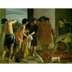 Joseph's Bloody Coat Brought to Jacob 1630 by Diego Velazquez - Art gallery oil painting reproductions