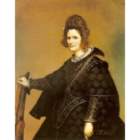 Lady from court 1635 by Diego Velazquez - Art gallery oil painting reproductions