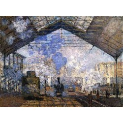 The Gare Saint Lazare by Claude Oscar Monet - Art gallery oil painting reproductions