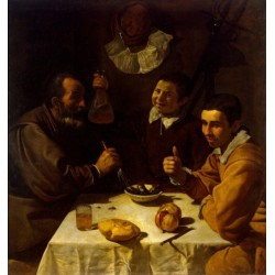 Luncheon 1617 by Diego Velazquez - Art gallery oil painting reproductions