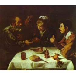 Peasants' Dinner 1618 by Diego Velazquez - Art gallery oil painting reproductions