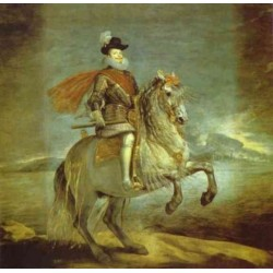 Philip III on Horseback 1634-35 by Diego Velazquez - Art gallery oil painting reproductions